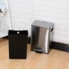 厂家直销欧式不锈钢垃圾桶静音 方形脚踏缓降脚踏式家用卫生间厨