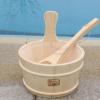 厂家供应芬兰云杉木桶木勺,桑拿房配件,干蒸房洒水木桶