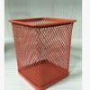 【厂家直销】【厂家批发】金属铁网文具方形彩色垃圾桶纸篓