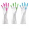 龙首 洗碗手套指尖手套清洁防水洗衣服家务PVC塑胶乳胶橡胶手套