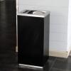 大堂不锈钢垃圾桶酒店宾馆时尚立式 商场果皮垃圾桶箱 包邮