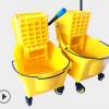 超宝单桶榨水车酒店手压式挤水桶 32L拖把桶 量大优惠 榨水车