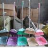 大雪花五排粗杆大扫把大扒抖套装家用不锈钢杆大扫把簸箕套装