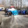 三轮洒水车价格时风高尔夫洒水车喷洒车可装2立方水三马子工地用