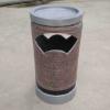 定制玻璃钢仿石材仿铜各种造型果皮箱垃圾桶