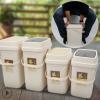 茶水桶茶渣桶茶桶塑料带盖家用方形排水茶叶垃圾桶废水桶茶具配件