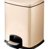 不锈钢脚踏式垃圾桶 脚踩式家用带盖垃圾桶 方形果皮桶 12升装桶