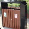 钢木户外垃圾桶塑木镀锌板 售楼部环卫分类垃圾箱公园大号回收桶