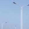 定制 双头路灯杆户外led双臂道路灯杆自弯臂A字臂双联杆市电路灯