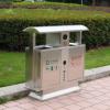 专业定做户外环卫不锈钢垃圾箱公园环保可分类垃圾桶厂家现货直销