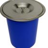 欧式厨房不锈钢嵌入式台面隐藏式垃圾桶创意家用置物桶 大号小号