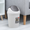 厂家直销翻盖垃圾桶小号摇盖式垃圾筒家用客厅卫生间带盖塑料纸篓