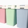 手按方形塑料垃圾桶 时尚家用厨房垃圾筒 客厅卫生间卫生桶10L
