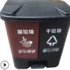 新农村建设40升20升环保连体双胞胎分类垃圾桶双桶脚踏塑料垃圾桶