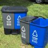 新款20升户外分类垃圾桶脚踏式环卫连体60L双桶塑料垃圾桶可回收