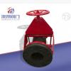 厂家直供-开放式管夹阀 耐磨耐腐蚀颗粒介质专用阀门可按要求定做
