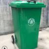厂家供应户外240升铁垃圾桶专业挂车桶方形铁皮垃圾箱桶圆形