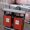 现货供应 塑木果皮箱 户外分类垃圾箱 镀锌板果皮箱 厂家批发