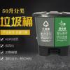 分类垃圾桶塑料垃圾桶脚踏垃圾桶 户外学校家用办公室分类垃圾桶