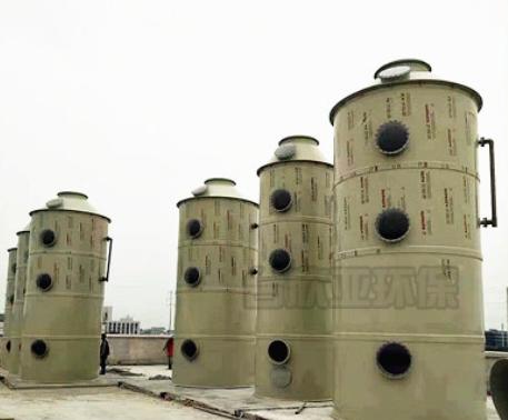厂家直销废气喷淋塔 工业废气处理设备pp喷淋塔 抗腐蚀酸雾喷淋塔