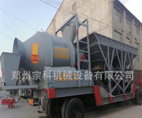 免基础车载移动式混凝土搅拌站 郑州宗科60型砂浆搅拌站价格