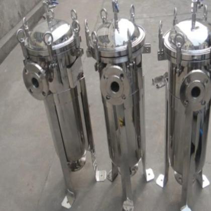 不锈钢袋式过滤器 1袋过滤器 商用过滤器前处理设备井水过滤设备