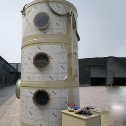 喷淋塔废气处理成套设备 工业环保设备洗涤pp喷淋塔 废气精华装置
