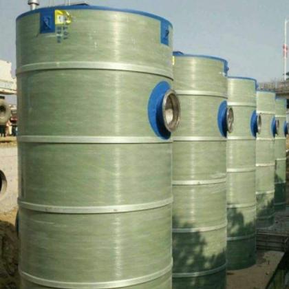 玻璃钢地埋式污水泵站小区一体化预制泵站 璃钢地埋式泵站