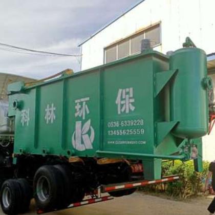 厂家销售防腐碳钢溶气气浮机污水处理设备一体化生活污水处理设备