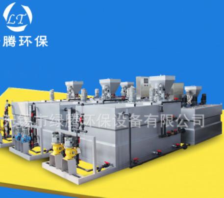 厂家生产三箱加药装置可定制全自动一体化装置PAM水处理大型装置