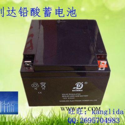 太阳能发电 风能发电专用蓄电池电瓶 12v24AH免维护铅酸蓄电池
