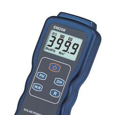 太阳能功率计 SM206 峰值保持功能 直接测量无需调节 两种单位