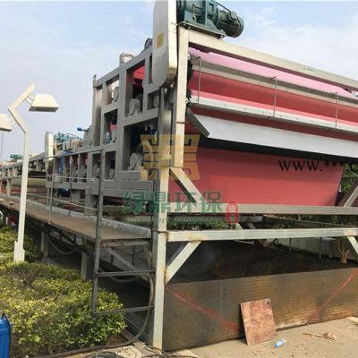 固废环保处理选用带式压榨机,承接河道清淤治理工程 带式压滤机