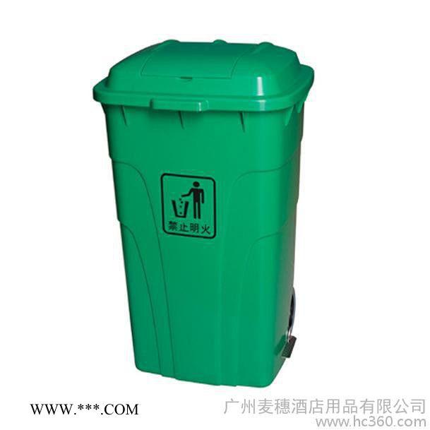 (图)供应银川移动式环卫垃圾桶灵武公园分类垃圾桶麦穗P-W117 120L脚踏式环保垃圾桶
