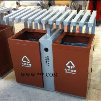双桶垃圾桶公园垃圾箱 户外环卫垃圾桶 小区不锈钢垃圾桶格拉瑞斯厂家** 户外垃圾桶