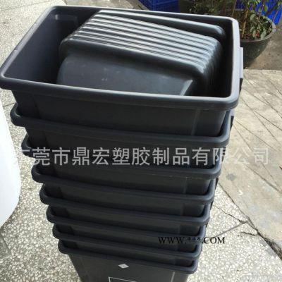深圳宝安西乡塑料灰色弹盖垃圾桶 30升塑胶储物桶室内环卫桶