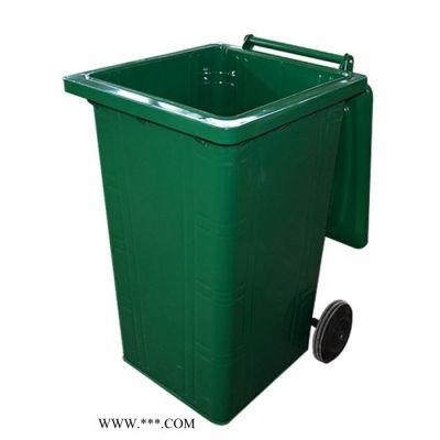 山东聚美供应厂家大量批发定制铁制240L挂车户外环卫垃圾桶 无焊接 不生锈
