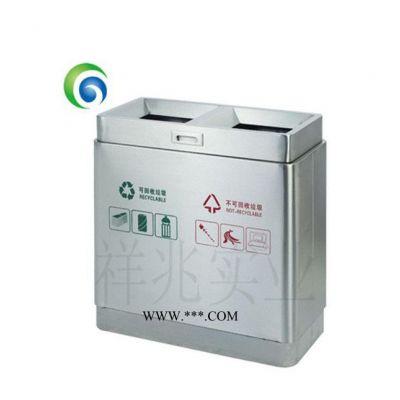 室外垃圾分类垃圾箱小区大号铁垃圾桶环卫果皮箱不锈钢垃圾桶户外