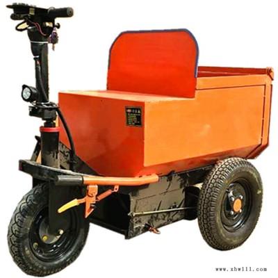 金明机械电动灰斗车  建筑垃圾清运车  工地材料运输车可进电梯