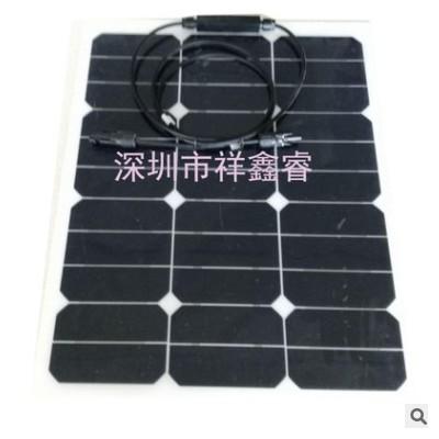 电商热销 35wsunpower定制半柔性太阳能板 定制太阳能充电器